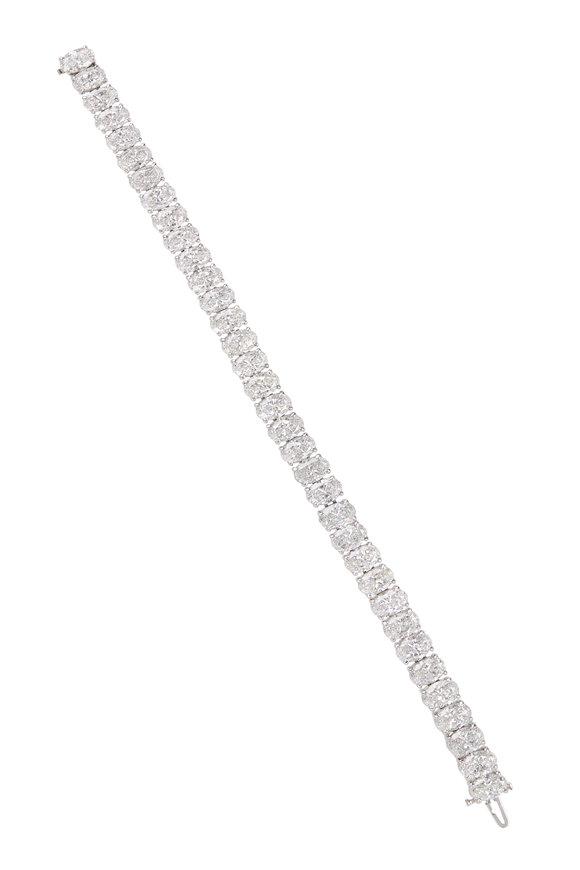 Louis Newman Platinum Diamond Bracelet