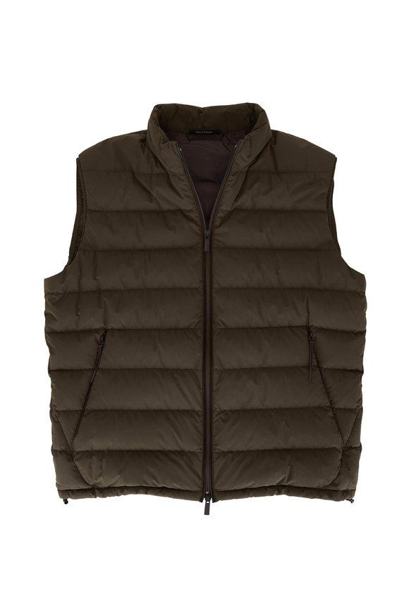 Ermenegildo Zegna Stratos Olive Green Puffer Vest