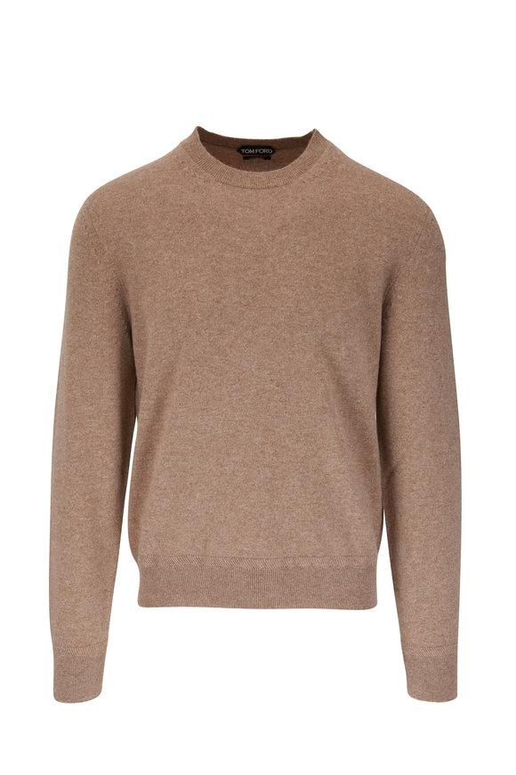 Tom Ford Light Brown Mélange Cashmere Sweater