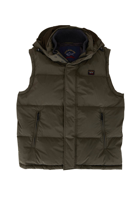 Paul & Shark Military Green Quilted Down Vest