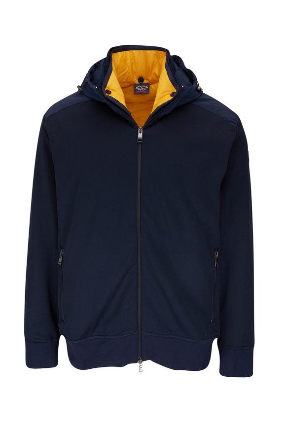 Paul & Shark Navy Water Resistant Hooded Jacket