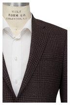 Atelier Munro - Brown & Navy Plaid Wool Blend Sportcoat