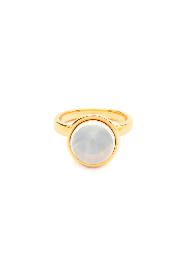 Bauble Yellow Gold Moon Quartz Stack Ring