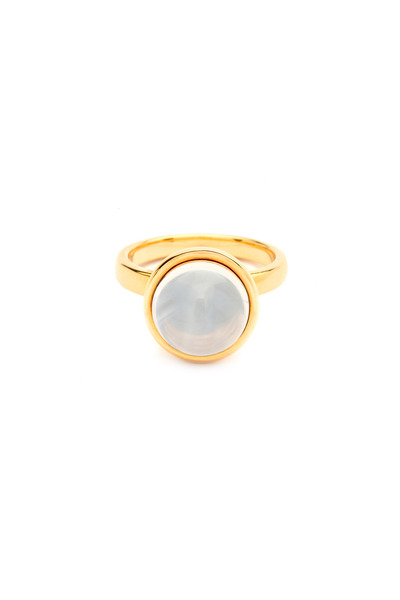 Syna - Bauble Yellow Gold Moon Quartz Stack Ring