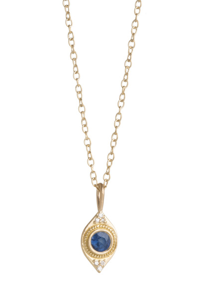 Jamie Wolf - Sapphire Diamond Gold Necklace