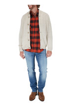 Fedeli - Oat Cashmere & Wool Cardigan
