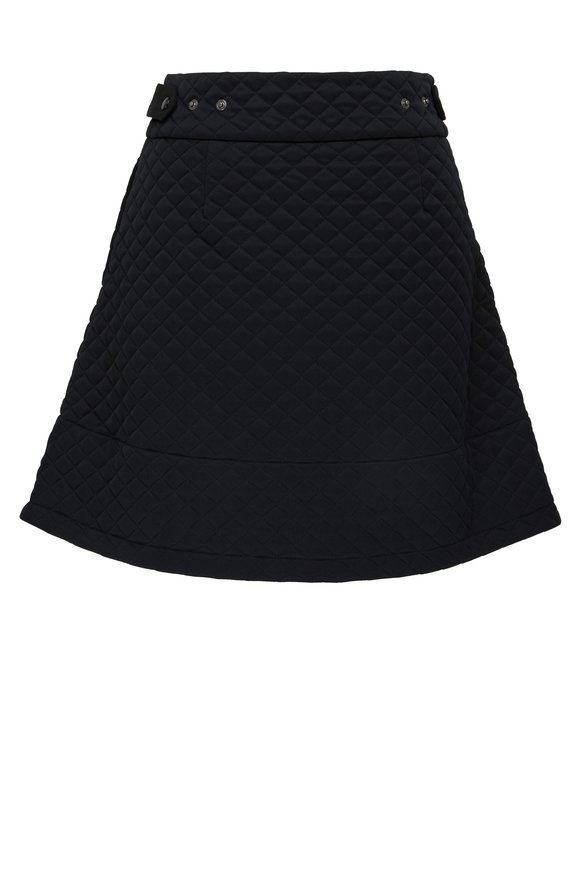 Moncler Black Quilted Jersey Mini Skirt