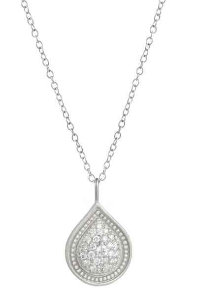 Jamie Wolf - White Gold Bohemian Pear Pave Diamond Necklace