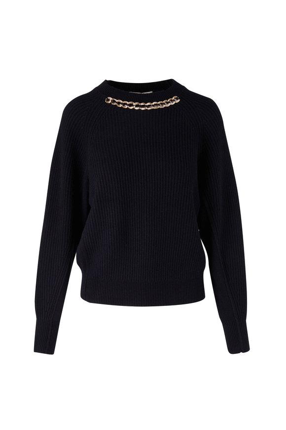 Dorothee Schumacher Modern Statements Black Ribbed Sweater