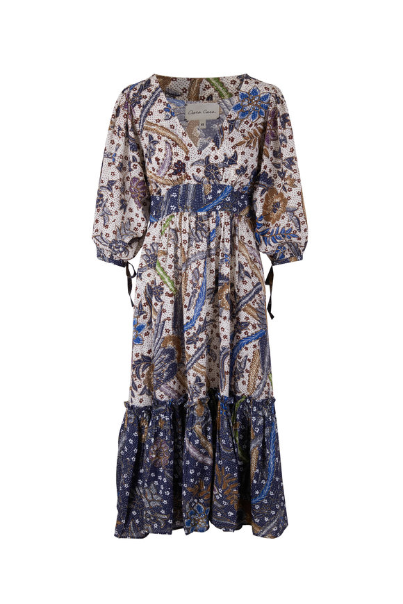 Cara Cara Round Hill Multi Color Batik Dress
