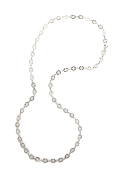 Jamie Wolf - White Gold Oval Aladdin Disk Chain Link Necklace
