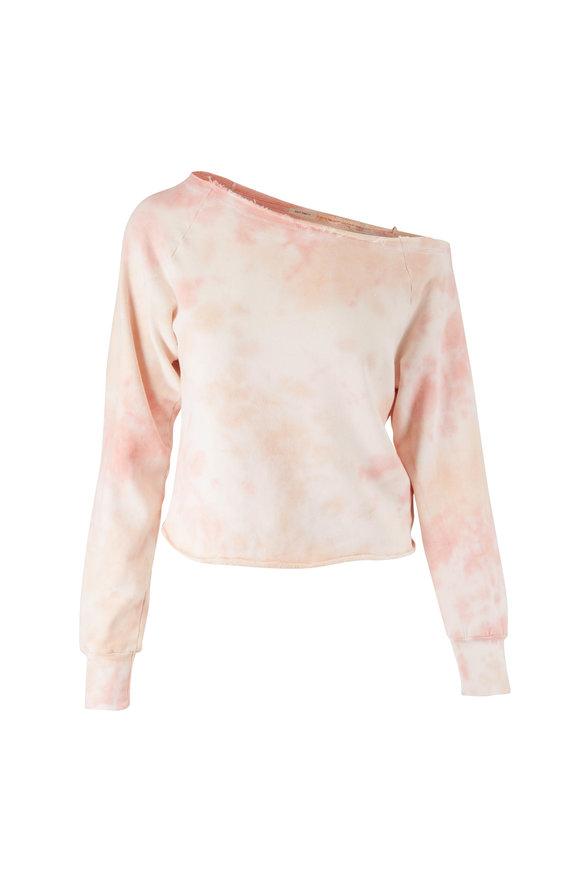 Mother Denim The Landslide Good Omens Tie-Dye Crop Sweatshirt