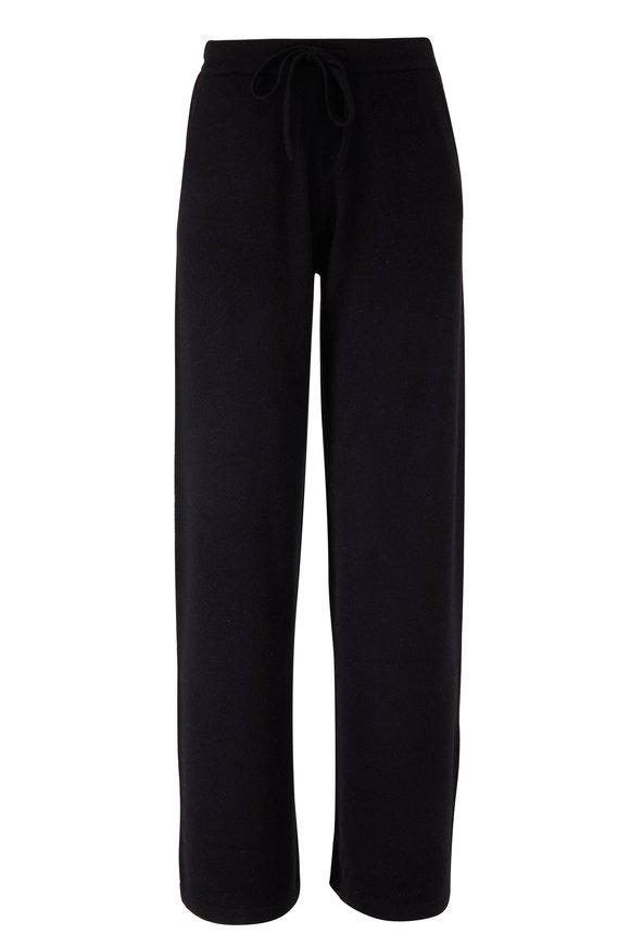 Chinti & Parker Black Cashmere Wide Leg Pant