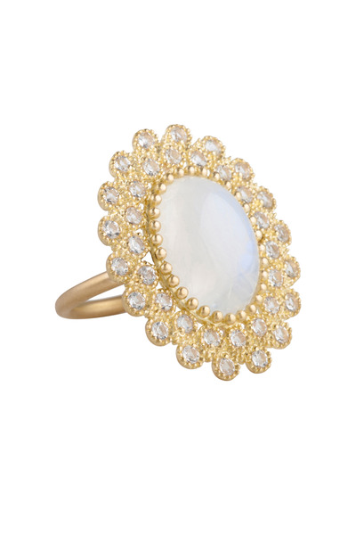Jamie Wolf - Yellow Gold Moonstone And White Topaz Ring