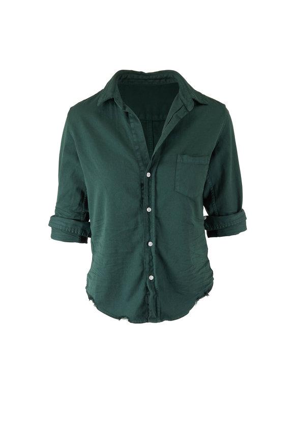 Frank & Eileen Barry Forest Green Denim Button Down Shirt