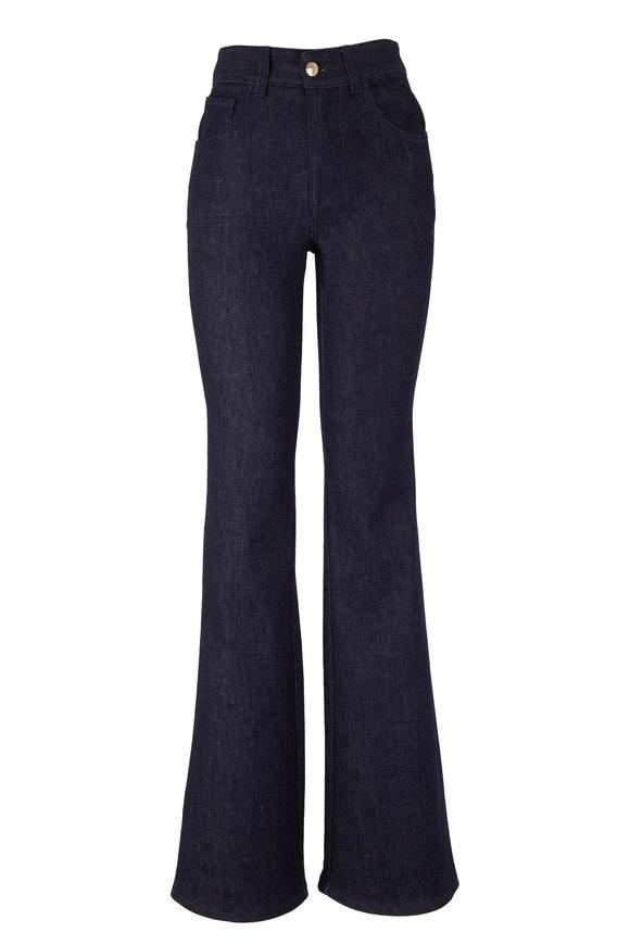 Chloé Dark Night Blue Recycled Stretch Flare Jean
