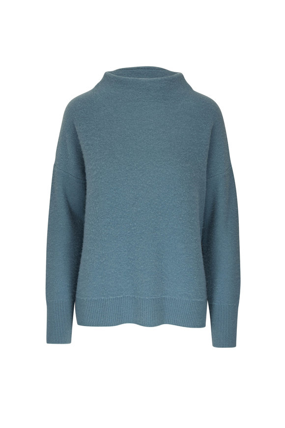 Vince Heather Ocean Boiled Cashmere Sweater