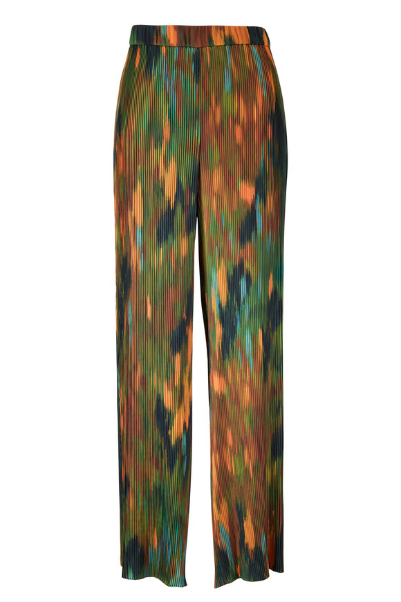 Lafayette 148 New York Riverside Emerald Multi Pleated Pant
