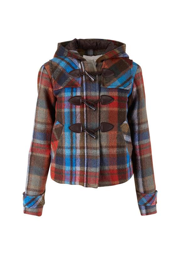 Veronica Beard Ianna Multicolor Wool Duffle Coat