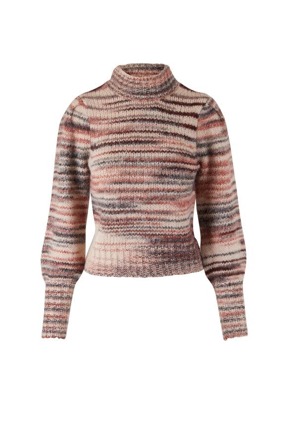 Veronica Beard Alston Pink Stripe Sweater
