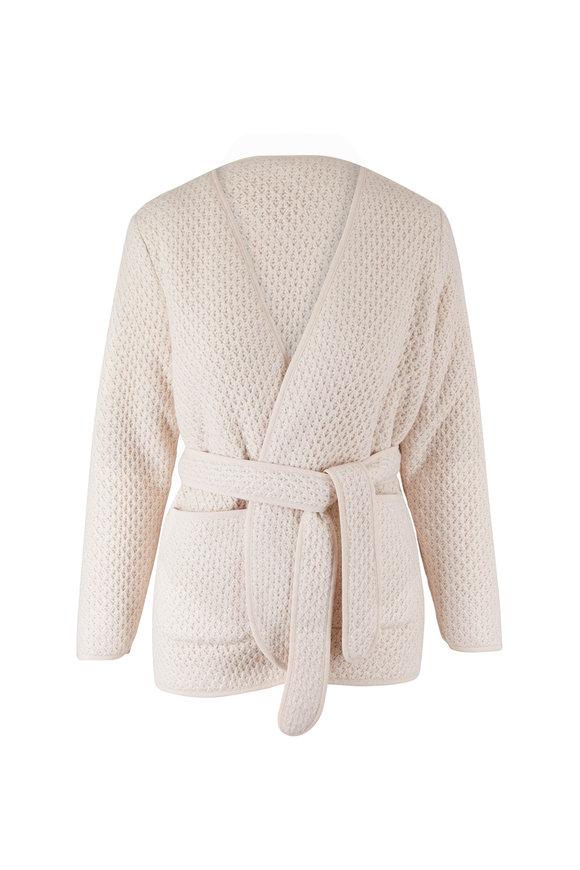 Mother Denim Ivory Warm Bodies Puffer Robe