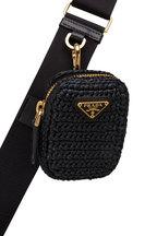 Prada - Pouch Black Raffia Shoulder Bag