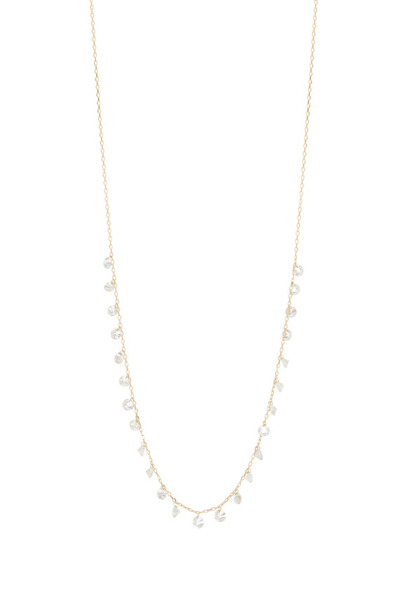 Kai Linz 18K Yellow Gold Diamond Droplet Necklace