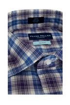 Peter Millar - Royal Plum Crest Plaid Flex Finish Sport Shirt