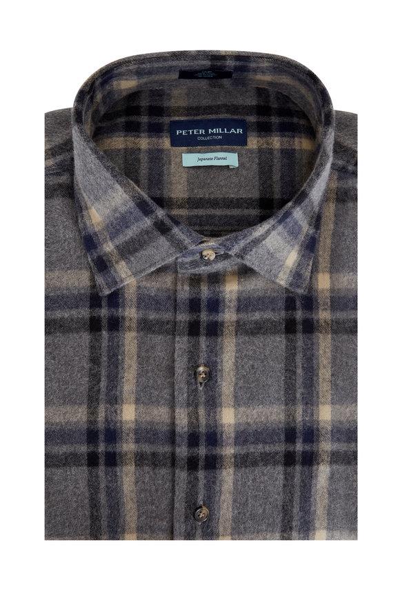 Peter Millar Argento Traverse Japanese Flannel Sport Shirt