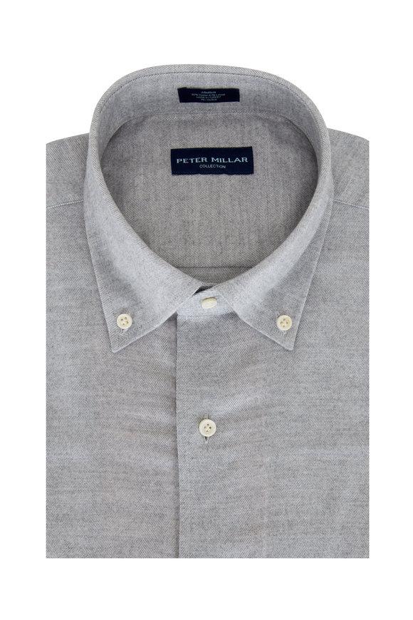 Peter Millar Argento Butte Herringbone Sport Shirt