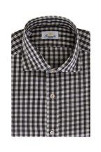 Giannetto - Brown & Ivory Check Cotton Sport Shirt