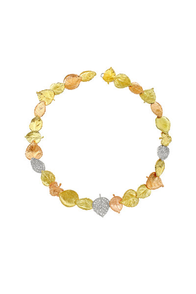 Aaron Henry - Multicolor Gold Leaves Necklace