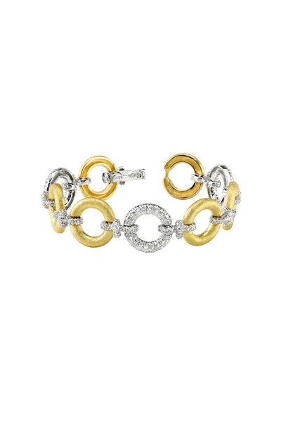 Aaron Henry - Yellow Gold Diamond Circles Bracelet