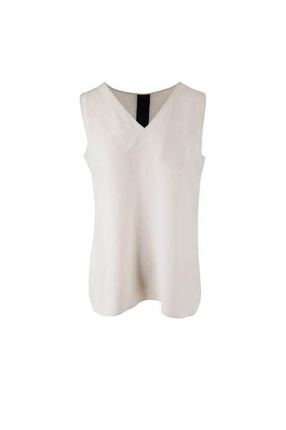 KZ_K STUDIO Taupe Gray Silk Reversible Cami