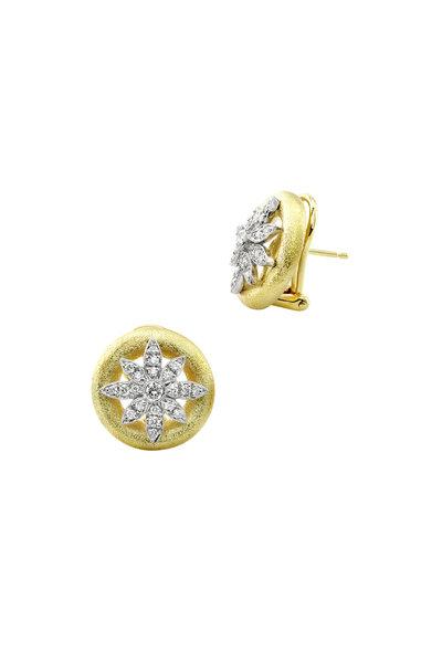 Aaron Henry - 18K Gold & Platinum Diamond Snowflake Earrings