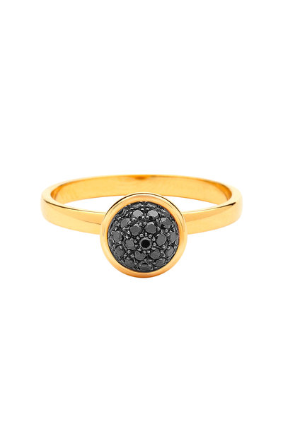 Syna - Baubles Yellow Gold Black Diamond Stack Ring