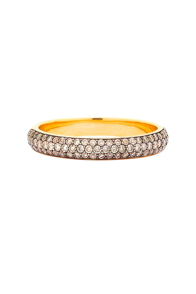 Syna - Yellow Gold Champagne Diamond Band