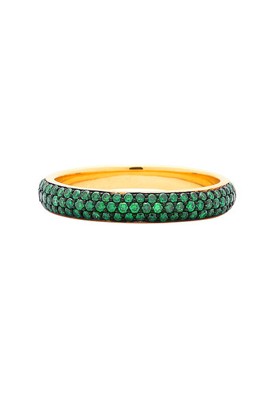 Syna - Yellow Gold Tsavorite Band