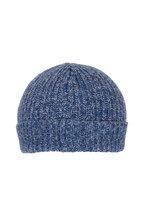 Brunello Cucinelli - Donegal Blue Cashmere Hat