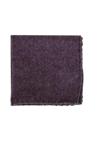 Brunello Cucinelli - Purple & Gray Whipstitch Pocket Square