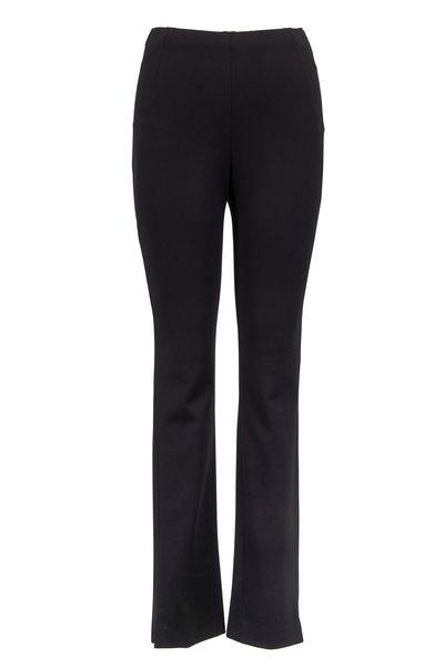 Donna Karan - Black Structured Jersey Pant