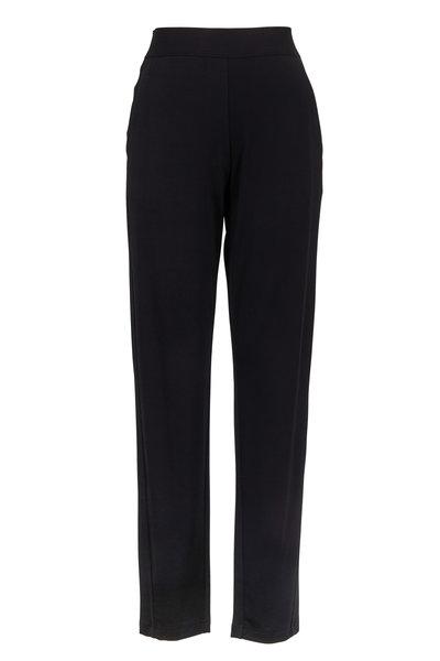 Donna Karan - Black Fluid Jersey Modern Pull-On Pant