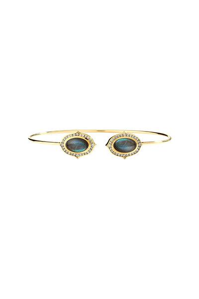 Syna - Kamala Gold Labradorite Champagne Diamond Bracelet