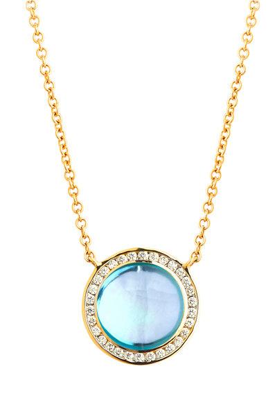 Syna - Blue Topaz Maya Necklace