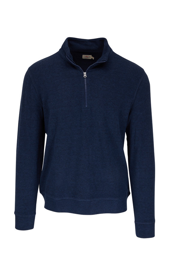 Faherty Brand Legend Navy Quarter-Zip Pullover