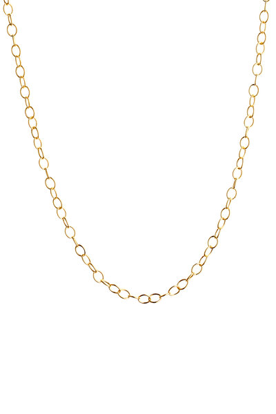 Syna - Yellow Gold Oval Link Neckalce