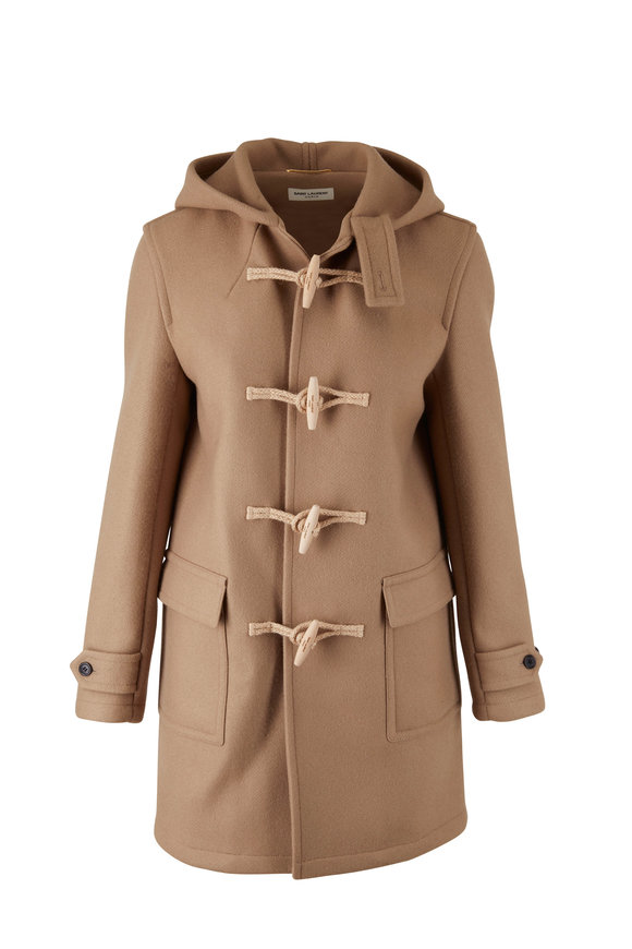 Saint Laurent Camel Wool Duffle Coat