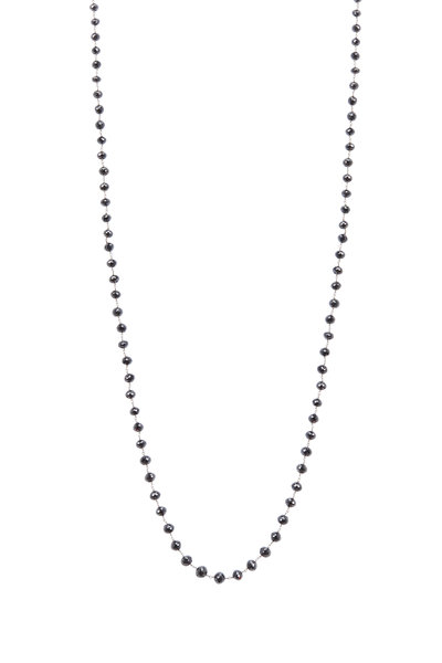 Kathleen Dughi - White Gold Black Diamond Necklace