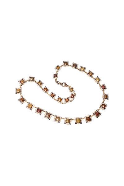 Sylva & Cie - Gold White & Rough Diamond Choker Necklace