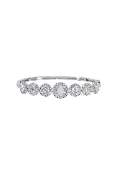 Kathleen Dughi - White Gold White Diamond Bangle Bracelet